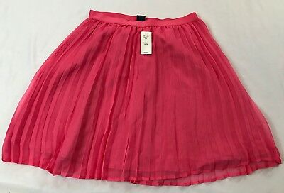 NWT Gap Kids Girls Size 14-16 Years XXL Solid Pink Tulle Pleated Lined Skirt