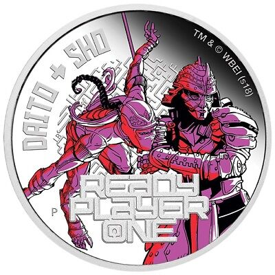 2018 $1 - Ready Player One - Daito & Sho - 1 oz Coloured Silver Proof Coin - PM