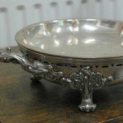 antique silver plate  WARMING DISH PLATE   serving bowl