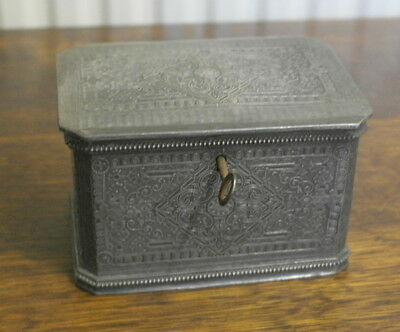 antique siver plate TEA CADDY