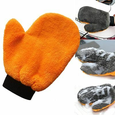 Useful Coral Velvet Plush Mitt Car Wash Mitten Washing Glove Cleaning Brush Tool