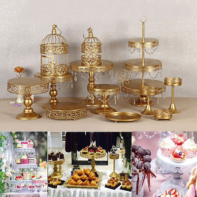 12Pcs Crystal Cake Holder Cupcake Stand Birthday Wedding Party Dessert Display
