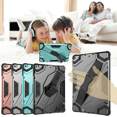 """Heavy Duty Shock Proof TPU + PC Hard Armor Case Cover For iPad 9.7"""" 6th Gen 2018"""