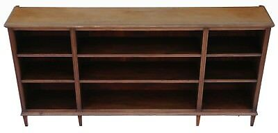 Antique large late Victorian C1900 mahogany open bookcase