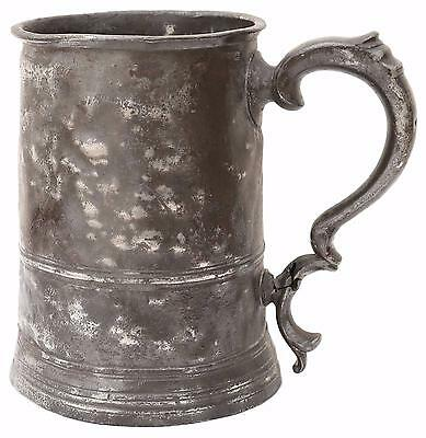 Antique William IV C1835 pewter tankard