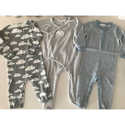 Baby Boys unisex Country Road & Purebaby Winter Wool Growsuit Bundle 6-12 Months