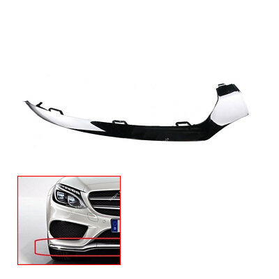 UPSM Front Left Bumper Chrome Trim Molding Fit For Mercedes-Benz W205 C300 2015 2016 2058851374