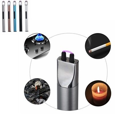 Atomic USB Electronic Lighter Double Arc Flameless Plasma Recharge Windproof