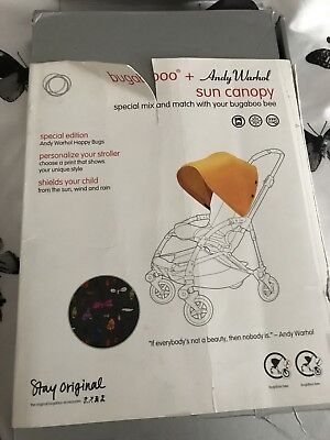 Limited Edition Andy Warlol Happy Bugs Hood / Canopy Bugaboo Bee