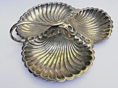 Silver Plate Segmented Scalloped Dish by Terry & Co. Manchester