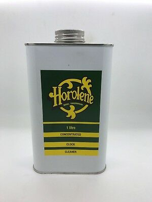 Horolene Concentrate Clock Cleaner Solution/Clean/Ammoniated/Cleaning/ 1 Litre