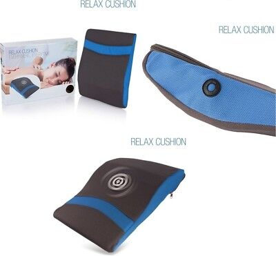 RelaxCushion Vibrating Massage Pillow Cushion ,Reduces Neck & Back Pain Relief