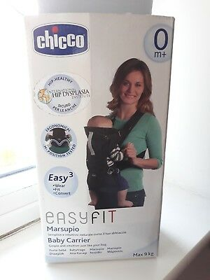 Chicco EasyFit Baby Carrier (Black Night) Ergonomic Dual Facing 0months+