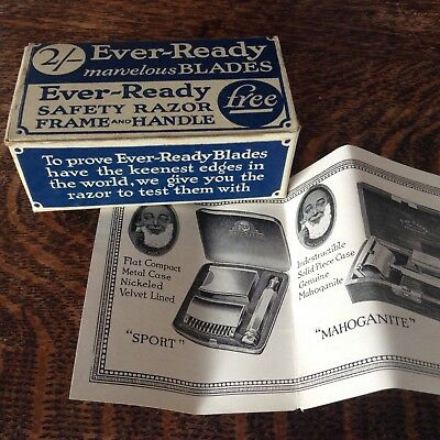 Vintage 'Ever Ready Safety Razor Set 'Test Outfit' C. 1930's