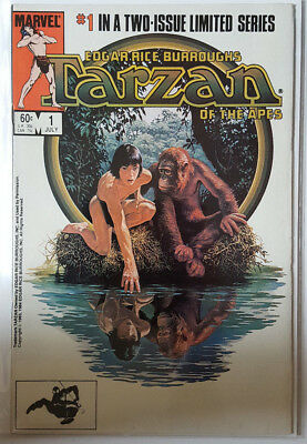 Tarzan Of The Apes # 1, & # 2 (Set / Movie Adaptation / Marvel Comics / 1984)