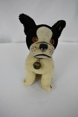 "Vintage Steiff Boston Terrier Dog ""Bully"" with Button in its Ear"