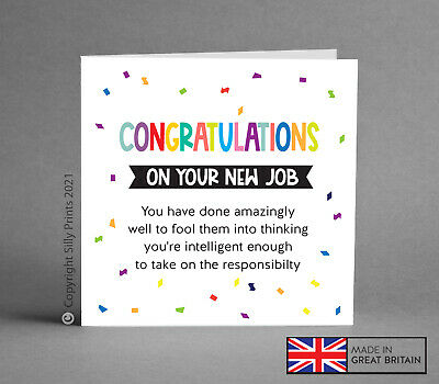 Funny leaving card - new job miss you bye comedy cheeky humour good luck rude G5