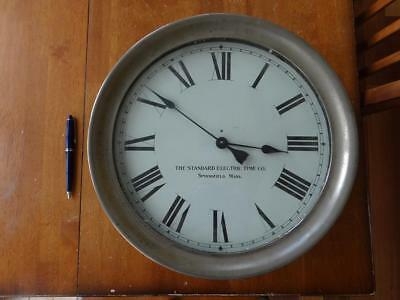 14 inch Ships Clock brass Nautical Howard Chelsea Antique Bulkhead Standard Time