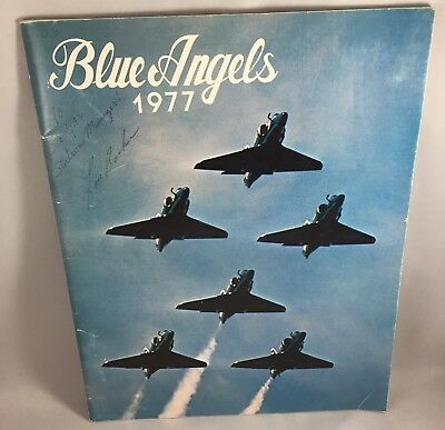 Vintage 1977 Us Navy Usmc Marines Blue Angels Souvenir Booklet