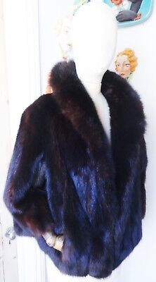 "Exquisite 23"" Long Natural Dark Russian Barguzin Sable Jacket-UK size 10 to 12.."
