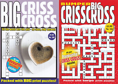 Criss Cross (Large Print) - 2 Book set - 161 Puzzles - New  (Set 177)