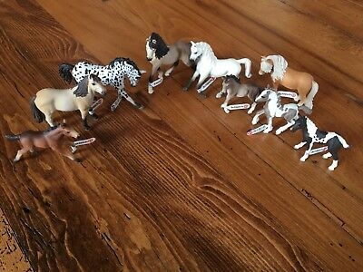 Schleich Horses lot of 9 new with tags