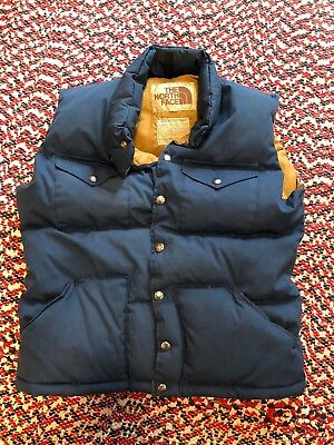 Vintage The North Face Brown Label Puffy Down Vest Size Small