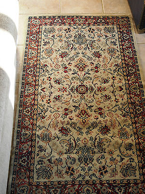 "Vintage Traditional  Handmade Floral Wool Rug  multi colour 55"" x 31"""