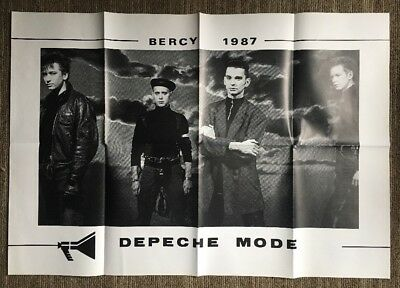Depeche Mode Vintage Poster Bercy Music Promo Ad Pin-up 1980's Retro Litho Art