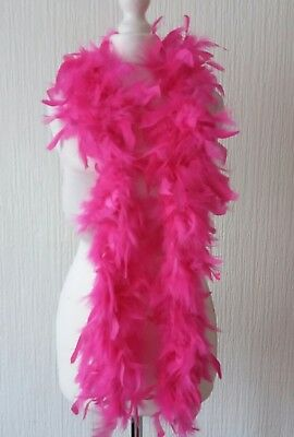 BNWT Bright Pink Party Boa Hen Night Flapper 1920's New