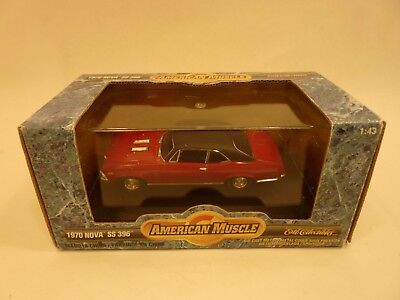 American Muscle 1970 Chevy Nova SS 396 Red ERTL Collectibles 1:43