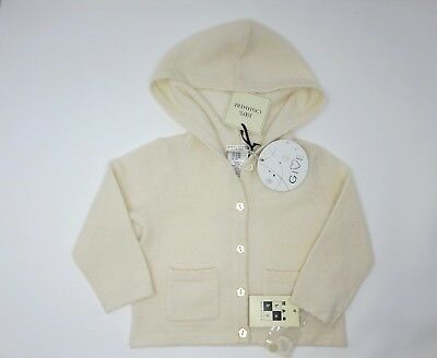 100% Cashmere Knit Baby Jacket with Hoodie - 3-6 M - New w/Tag