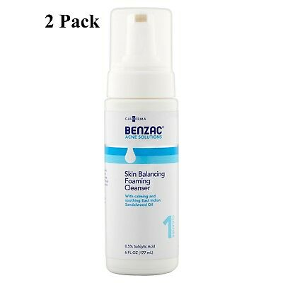 6 Pack Gladerma Benzac Acne Solutions Blemish Clearing Hydrator 1.0 Oz Each Serious Skincare C Clean 4 oz