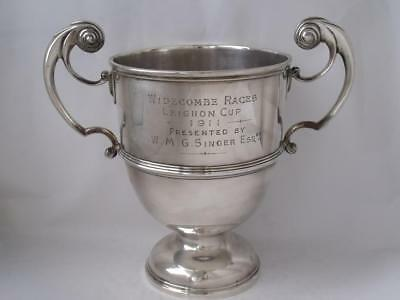 "Large Antique Solid Sterling Silver ""Racing"" Trophy 1908/ H 20.2 cm/ 580 g"
