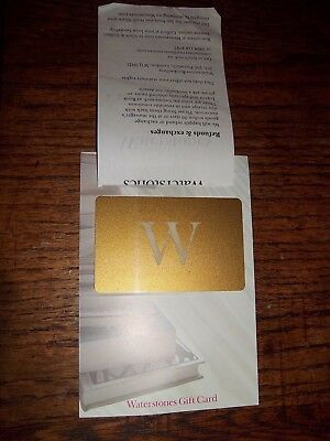 Waterstones bookseller gift,credit vouchers, cards total value £53.00