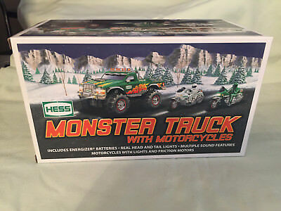Hess 2007 Toy Truck Monster Truck with Motorcycles NEW includes original bag