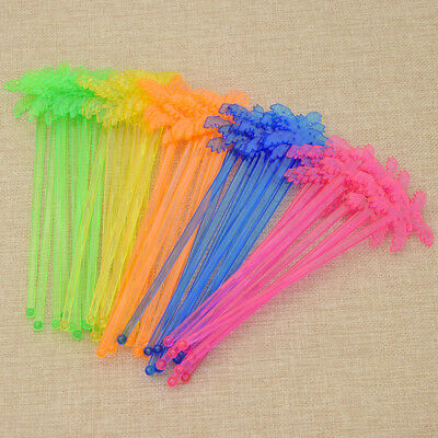 50pcs Coconut Tree Swizzle Stick Four Colors intage Plastic Cocktail Stirrer
