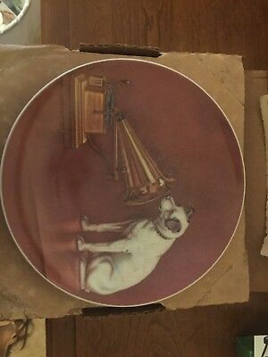 """Nipper - Collector's Plate - """"His Master's Voice"""" Rca 1980"""