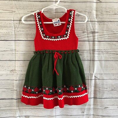 Trachten Schmider Dirndl Dress Baby Toddler Sz 80 (12-18 mo)German Bavarian Wool