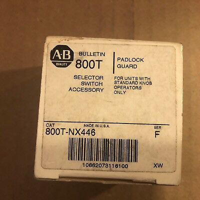 New 800T-Nx446 Allen Bradley Selector Switch Padlock Guard Freeshipsameday