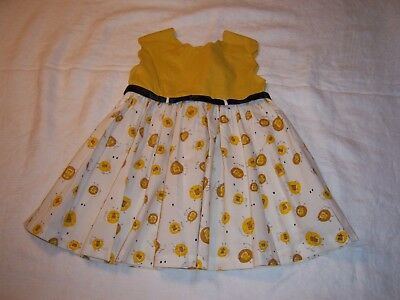 SWEET VINTAGE SLEEVELESS KATE GREENAWAY FROCK TODDLER DRESS~LIONS~1950s~ SIZE 2T