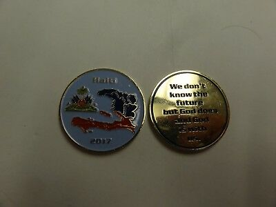 Challenge Coin Haiti 2017 We Dont Know The Future But God Does And He Is With Us
