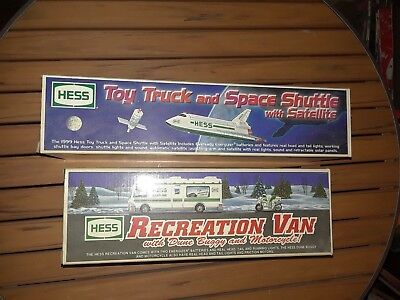 Hess Space Shuttle and Hess Recreation Van Both New