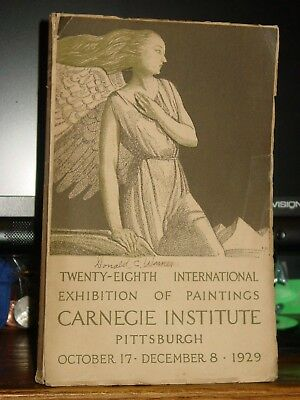 28th International Exhibition Paintings Carnegie Institute Pittsburgh 1929