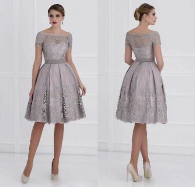 2018 Short Mother Of The Bride Dresses Wedding Formal Gowns Knee Length Size 6/8