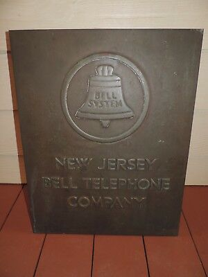 Circa 30's New Jersey Telephone Building Marker Plaque Advertising Display Sign