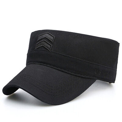 Men Flat-top Cap Cotton Washed Hats Women Outdoor Military Flat Army Hat