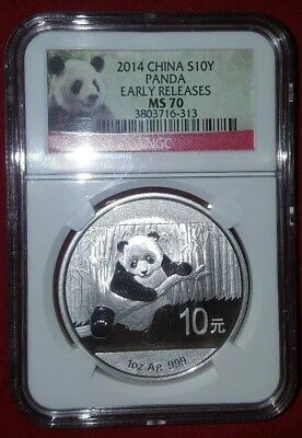 2014 China S10Y Panda Early Release MS 70