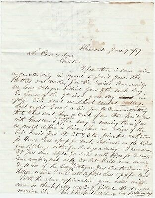 RARE Manuscript Letters 1859 Oneida Community NY Bottles Lancaster Glass Works