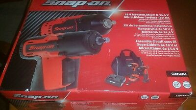 SNAP ON 18V Monster Lithium & 14.4 Micro Lithium  cordless impact  Tool Kit !!!